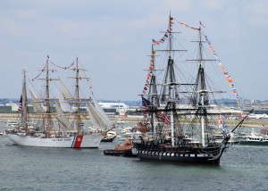 USCG Eagle and USS Constitution